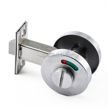 DHL Shipping 10PCS/LOT Stainless Steel Bathroom Toilet WC Indicator Door Lock Privacy Deadbolt Red/Green Indication
