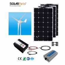 Boguang 1x 600W Wind Turbine+3X100W Solar Hybrid system DIY kit solar panel home house module mobile dc 12v/24v off grid tie