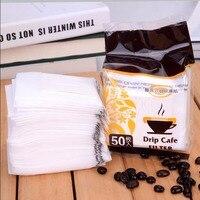 50PCS Set Portable Drip Coffee Filter Paper Coffee Filter Bag Filter Foaming