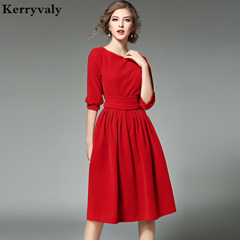 OL Style Women Blue Velvet Dress Winter Dresses Women 2019 Vestidos Ukraine Red Christmas Party Dresses
