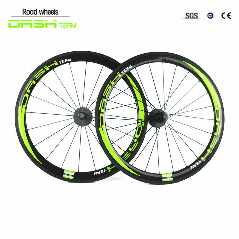 Bike Wheel 50mm Clincher Rim+Spokes+Hub+Quick Release Lever Skewers+Brake Pad Full Carbon Matt 700C Road Bike Bicycle Wheelsets 26er full carbon fiber 100mm width snow fat bike rim black disc brake bicycle rim