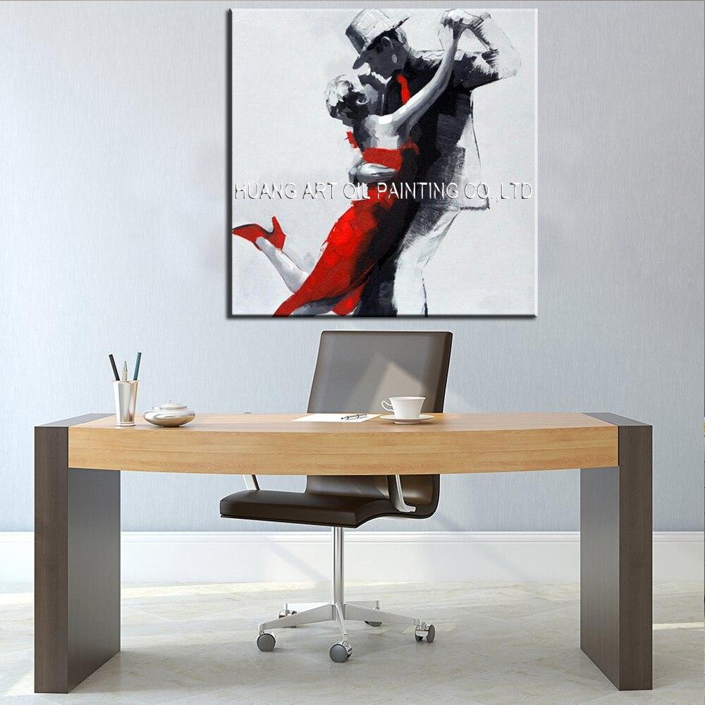 Ručno oslikana slika moderne plesačice na platnu za ukras dnevnog - Kućni dekor - Foto 3
