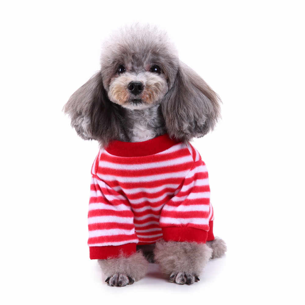 2018 neue Mode Weihnachten Komfort Pet Kleidung Festival Gestreiften Schneemann Pullover Chihuahua Französisch Bulldog