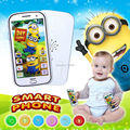 English language Minions touch screen  smart phone with music and light,educational&learning machine plastic toy phone