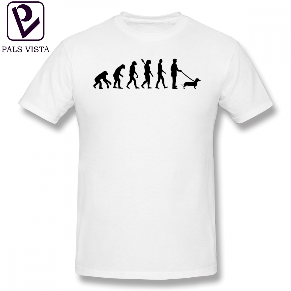 Teckel T Shirt Evolution Dachshund T Shirt Summer Plus size Tee Shirt Printed Mens 100 Cotton Short Sleeves Funny Tshirt in T Shirts from Men 39 s Clothing