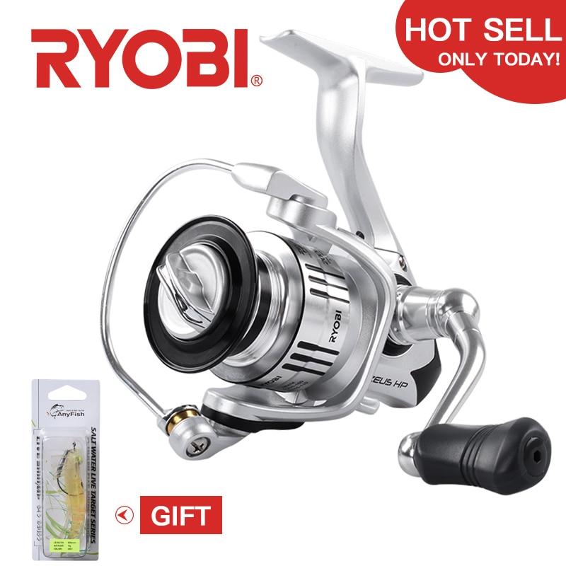 100% original RYOBI 6 + 1BB ZEUS HP fiação carretilhas de pesca 1000 2000 3000 4000 6000 8000 kg Max 10 arraste carretel de pesca carretilha