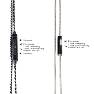 Image 3 - FDBRO 3.5mm 마이크 헤드폰 업그레이드 케이블 실버 도금 와이어 헤드셋 MMCX 2pin A2DC 이어폰 케이블 SE215 SE425 SE535 LS70