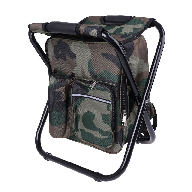 Backpack Cooler Chair - Compact Portable Folding Stool - Perfect for Outdoor Events