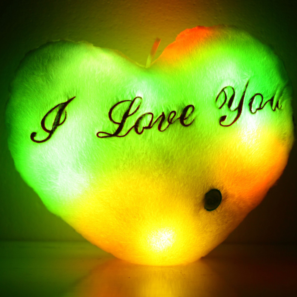 LED Luminous Heart shape Pillow Cushion for Christmas party decor ...