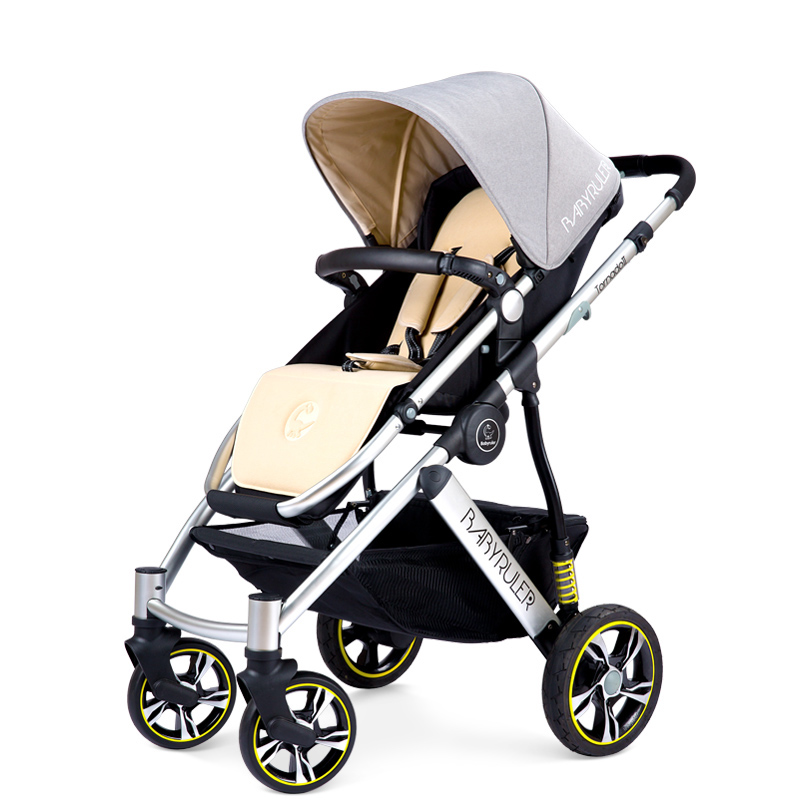 Babyruler baby stroller baby folding portable two-way child cart shock absorbers brand baby pram baby stroller babyruler ultra light portable four wheel shock absorbers child summer folding umbrella cart