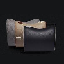 Британский стиль дышащий кожаный подголовник сиденья автомобиля подушка для шеи для volkswagen bmw mercedes Renault Toyota nissan Аксессуары