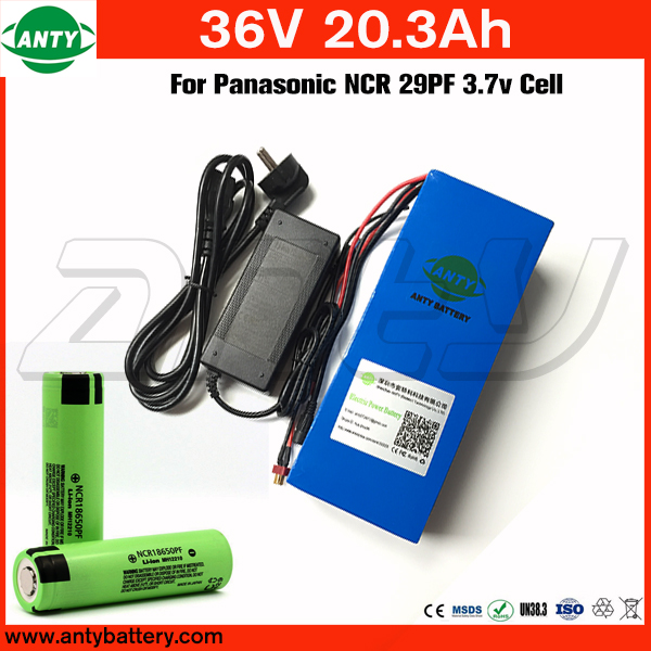 E Bike Battery 36v 20.3Ah 800w for Panasonic 2900mAh 18650 Cell with 2A Charger 30A BMS Lithium Battery 36v Free Shipping free customs taxe 36v 1000w triangle e bike battery 36v 40ah lithium ion battery pack with 30a bms charger for panasonic cell
