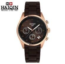 HOT sale Mens Watches Top Brand Luxury HAIQIN Men Military Sport Luminous Wristwatch Chronograph Quartz Watch