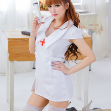 Sexy Mature Nurse Syringe Tool Kit BDSM Dress Fancy Model Sex Doll Outfit Slutty Naughty Dirty Woman Hot Tempted Uniform Costume