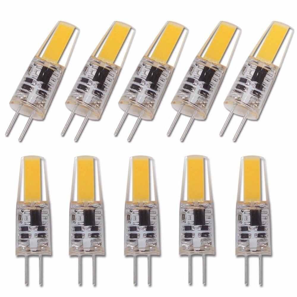10 pçs led g4 lâmpada ac dc pode ser escurecido cob led 12 v 220 v 6 w cob smd iluminação led substituir halogênio holofotes lustre