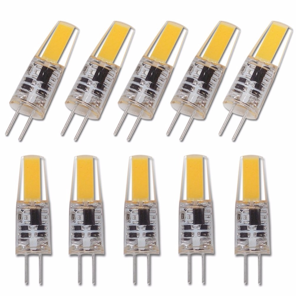 10pcs LED G4 Lamp Bulb AC DC Dimmable Cob Led 12V 220V 6W COB SMD LED Lighting Replace Halogen Spotlight Chandelier