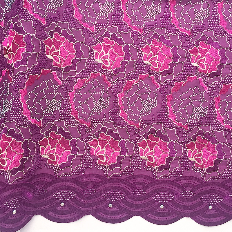 Magenta Lace Fabric