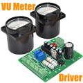 Wholesale Brand New  2pcs Panel VU Meter Warm Back Light Recording&Audio Level Amp with Driver+Free shipping-10000598