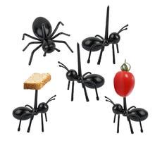 Лидер продаж 12 шт. фрукты вилка форма муравья вилки закуска пирог десерт посуда для дома кухня вечерние ужин фрукты выбрать кухонные инструменты