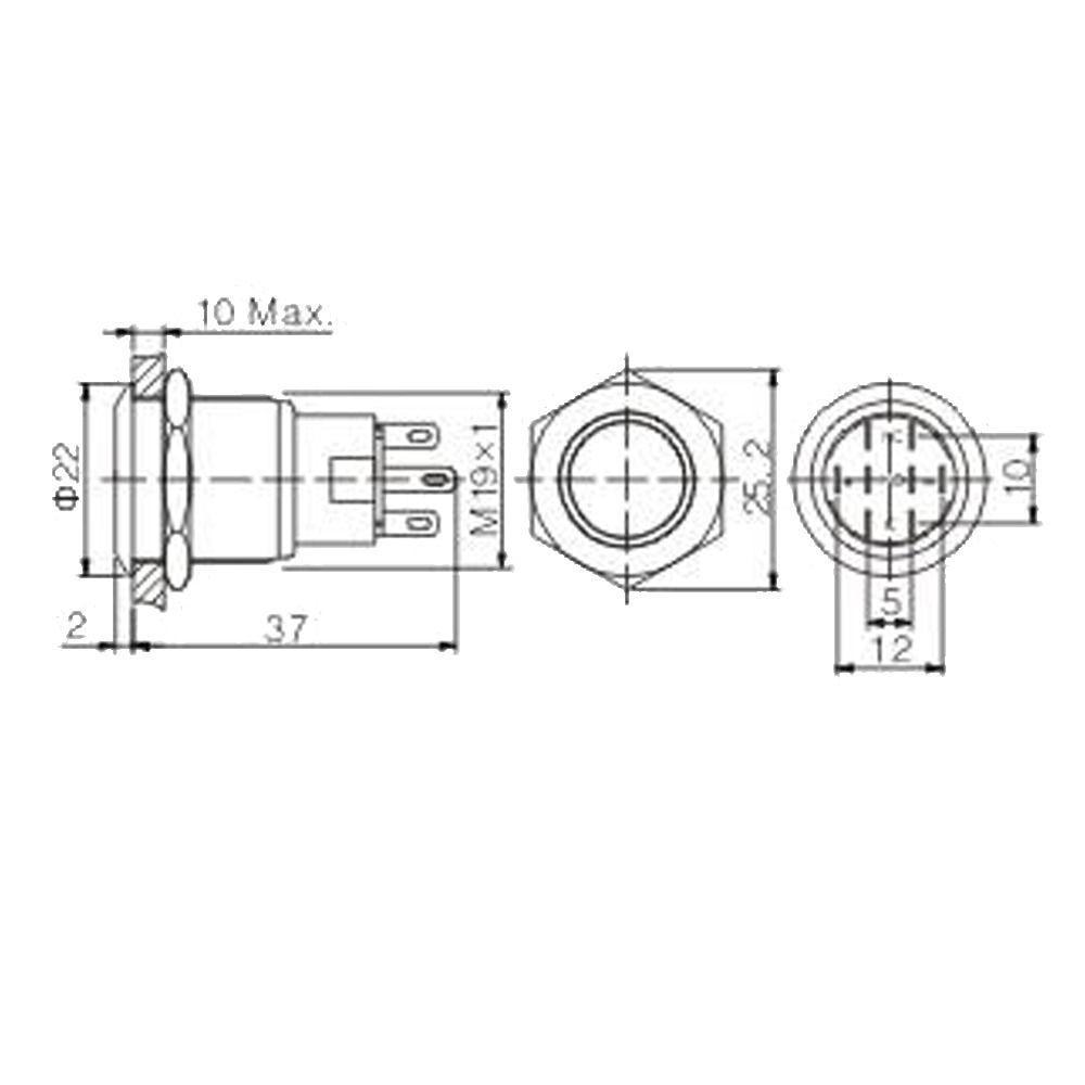 Aliexpress.com : Buy EE support 19mm 12V 5A Colors Led Light Symbol ...