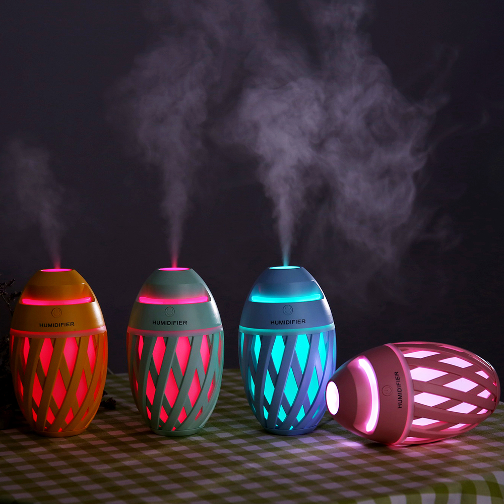 Ultrasonic Aromatherapy Essential Oil Aroma Diffuser Cool Mist Humidifier Car with LED Lights Air Humidifier USB Mist Maker