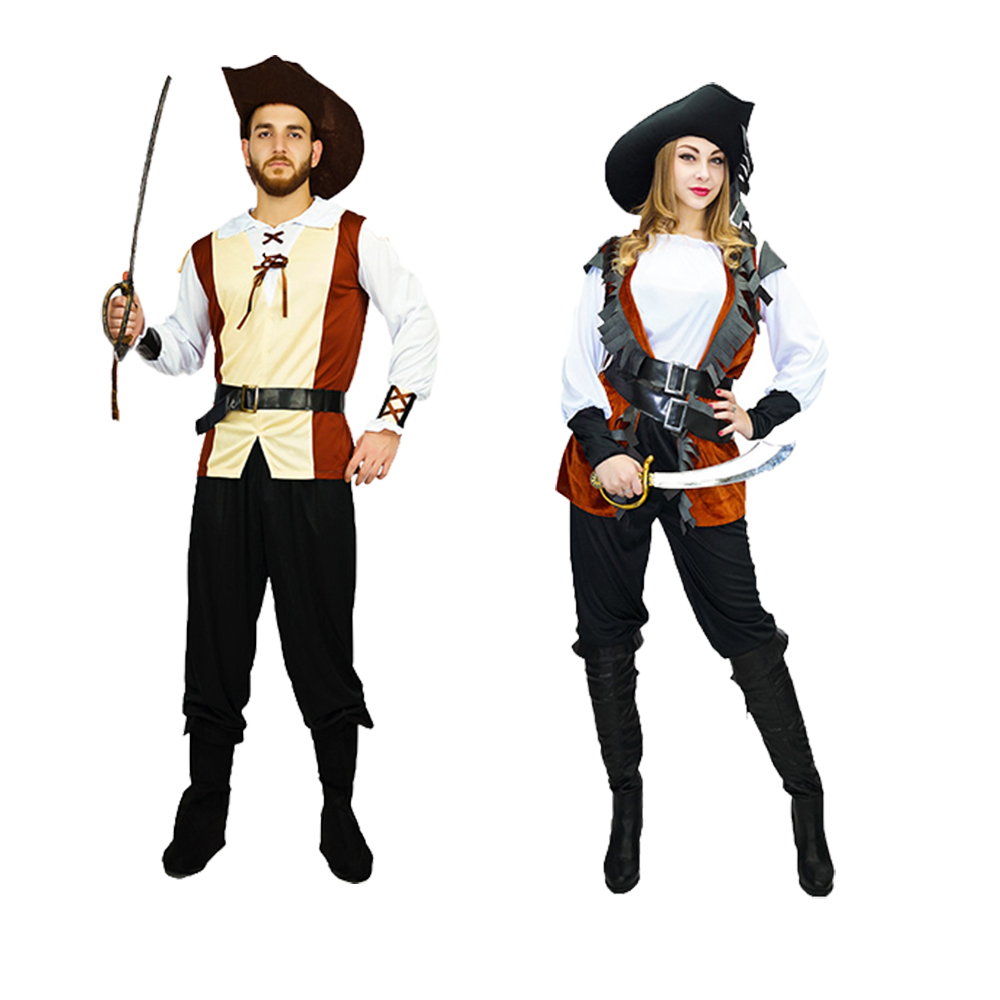 Adult Pirate Costumes Halloween Christmas Cosplay Performance Clothing Adult Stage Costumes Pirates For Role Play Performance