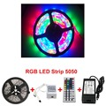 Wholesale 5m Waterproof Rgb Led Strip Ir Remote Control Outdoor Led Flashing Light Dc5v Full Color Smd 5050 Lighting