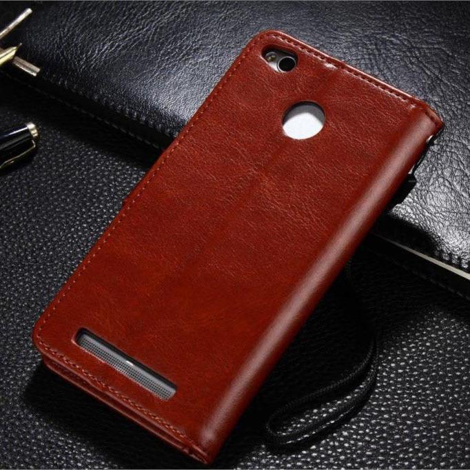 Xiaomi redmi note 5a Pro väska täcka 5 en läder Crazy häst fodral - Reservdelar och tillbehör för mobiltelefoner - Foto 2