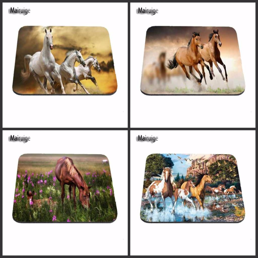 Cheap Best Luxury Print Cool Horse Gaming Mouse Pad Size 180X220X2MM 250X290X2MM And 25*20cm Lasting Computers Laptops Mouse Pad image