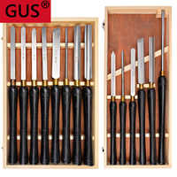 1 set of woodworking turning tool set HSS high speed steel semicircle knife hand-held wooden turning tool extended lathe tool se