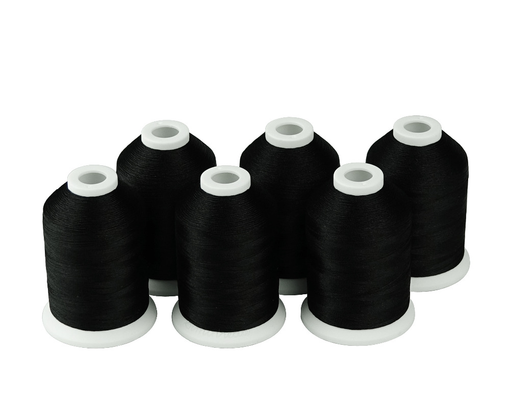 White /& Black 1000M Each SIMTHREAD 40Wt Polyester Embroidery Machine Thread