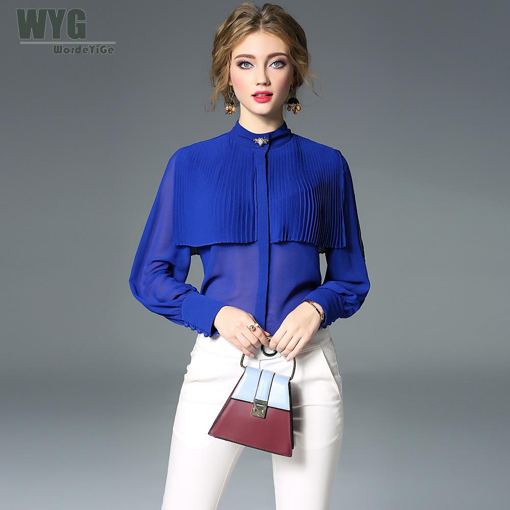 13f2ec7b934df6 Buy blouse blue royal and get free shipping on AliExpress.com