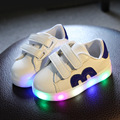 Sport Boys Shoes Wiht light Kids Shoes 2017 New Spring Led Running Girls Shoes Children Shoes Chaussure Led Enfant Size 21-30