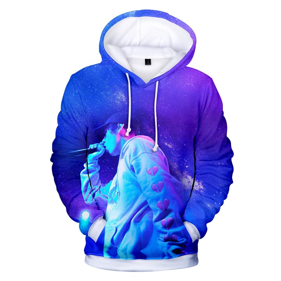 LUCKYFRIDAYF Hip Hop LIL XAN Fashion Hoodies Print Women/Men Warm Cool Long Sleeve Skull Sweatshirts Hoodie Clothes