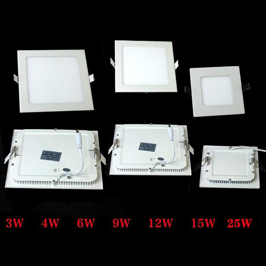 Downlights frio quadrado ultra fino levou Power : 3w/4w/6w/9w/12w/15w/25w