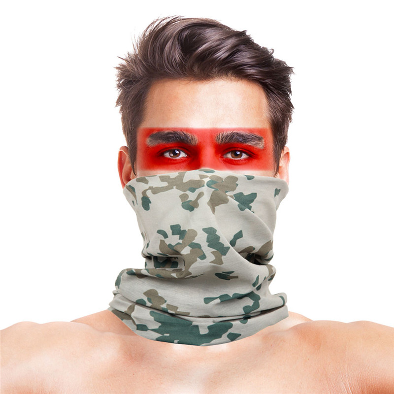 High-Jump Multi Wear Scarf Men Women Bandanas 100% Polyester Military Camouflage Face Mask Windproof Neck Warmer Headband Scarf