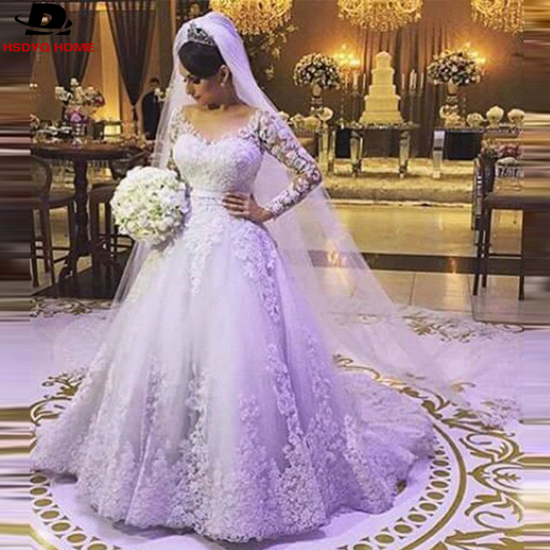 Emejing light purple wedding dresses contemporary styles ideas muslim long sleeve vestido de noiva white light purple ball gown junglespirit Image collections