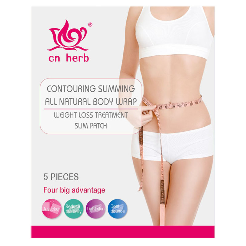 CNHerb slimming patch Contouring simmming all natural body wrap sticker 5pcs/pack*2 boxs safe fat burning weight loss