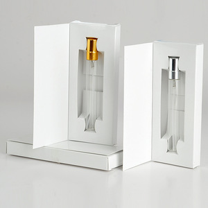Image 4 - 100 Pieces/Lot 5ML Customizable Paper Boxes And Glass Perfume Bottle With Atomizer Empty Parfum Packaging CUSTOM LOGO for gift