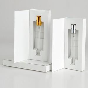 Image 3 - 50 Pezzi/lottp 5ML Personalizzabile Scatole di Carta E di Vetro Bottiglia di Profumo Con Atomizzatore Vuoto Parfum Imballaggio LOGO PERSONALIZZATO per il regalo