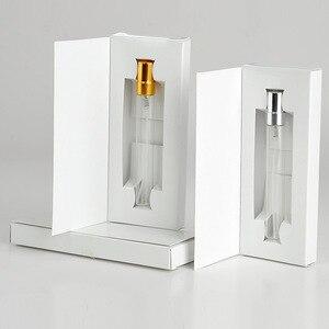 Image 4 - Unids/lote de 100 cajas de papel personalizables y botella de Perfume de cristal con atomizador, embalaje al vacío de Perfume, logotipo personalizado para regalo, 5ML