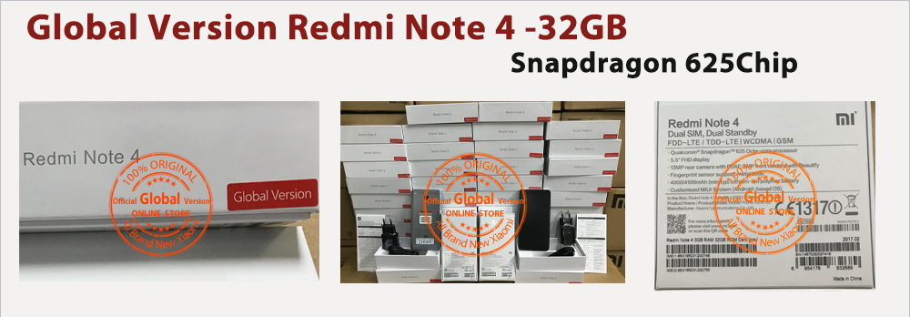 global version redmi note 4 in stock now new