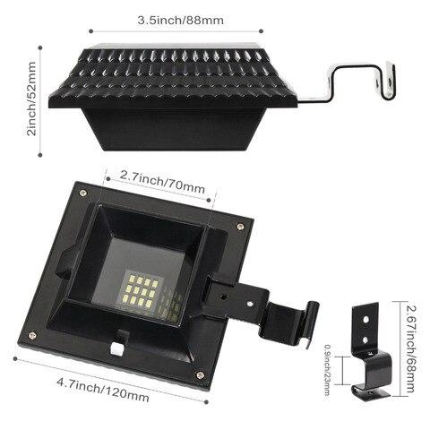 t sunrise 4 pacote led solar sensor a