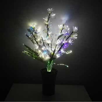 New Style LED Colorful transformation Artificial flower Wedding decoration Novelty optical fiber flower Christmas New Year party - DISCOUNT ITEM  38 OFF Lights & Lighting