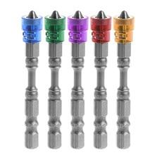 5 Pcs 65mm Anti Slip Electric Hex Magnetic Screwdriver S2 PH2 Single Head Bit Tool   t15