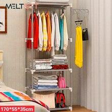 Perchero de Montaje Simple de acero inoxidable para ropa, colgador de tela no tejida para zapatos, organizador de bolsos de mano, soporte de almacenamiento para dormitorio
