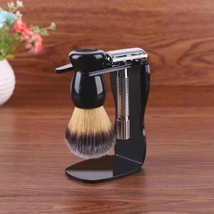 Image 2 - 3 w 1 mydło do golenia miska + pędzel do golenia + stojak do golenia włosia golenie włosów pędzel do golenia mężczyzn broda urządzenia do oczyszczania nowy Top prezent Drop ship