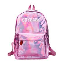 Mini Travel Bags Silver Blue Pink Laser Backpack Women Girls Bag PU Leather Holographic Backpack School Bags for Teenage Girls -in Backpacks from Luggage & Bags on Aliexpress.com | Alibaba Group