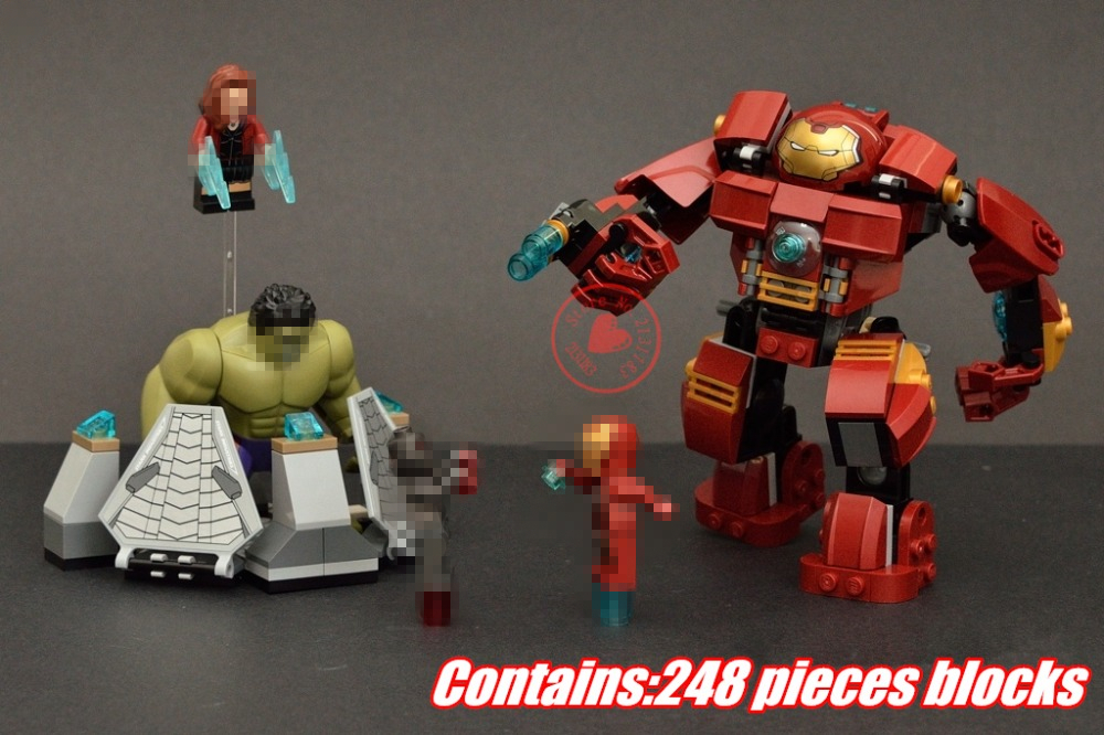 Decool 7110 Building Blocks Super Heroes Avengers Hulk Buster Smash Assemble set Bricks Toy compatiable with lego kid gift set
