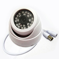 HD Super 1 3 700TVL Sony CCD IR Color CCTV Indoor Dome Security Camera 24 LEDs